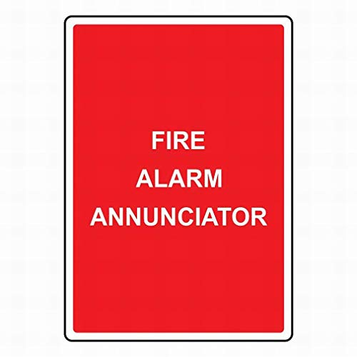 Ufcell Outdoor Wall Art Decor Fire Alarm Annunciator Sign Warning Tin Signs Metal Sign Notice Safety Security Sign Street Decor 8x12