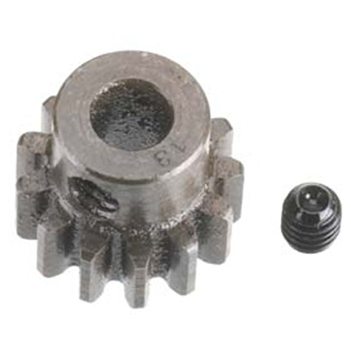 Robinson Racing 1213 Extra Hard High Carbon Steel Motor Pinion Gear, 5Mm Bore, 1.0 Mod Pitch, 13 Tooth