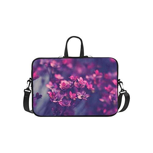 Elegant Flowers Photograpy Hd Wallpaper Free Pattern Briefcase Laptop Bag Messenger Shoulder Work Bag Crossbody Handbag for Business Travelling