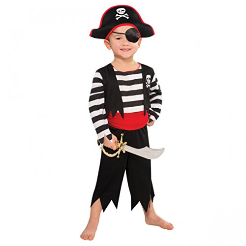 Deckhand Pirate Fancy Dress Age 4-6 years by Party Parade