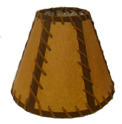 9 inch Double Laced Rustic Lamp Shade.....Click on Photos to View Sizing and Style Options!