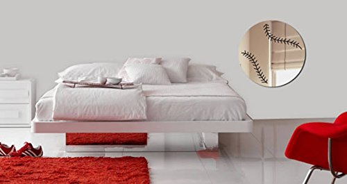 Baseball Sports Acrylic Resin Wall Mirror by Dezign with a Z