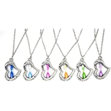 Fashion Jewelry Christmas Gift Heart Shape Hourglass Pendant Necklace I LOVE YOU Charm For lovers