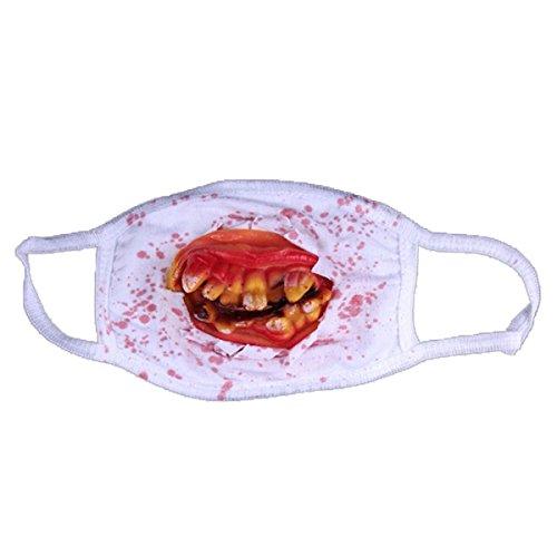 1pcs Randomly Bloody Teeth Zombie Facemasks Cool Halloween Dress Party Horror Prank (Adult Austin Powers Costume)