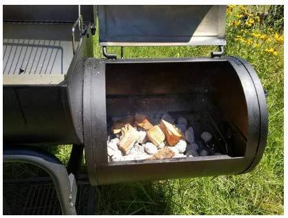 Amazon.com: Parrilla de carbón con ahumador – Rejilla de ...