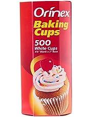 اورنيكس  كاسات كيك , ابيض - 500 حبة