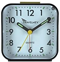 Travelwey Analog Clock, No Ticking, Alar...