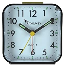 Travelwey Analog Clock, No Ticking, Alarm, Snooze, Light