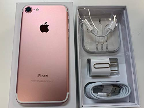 Apple iPhone 7, Fully Unlocked, 128GB (Renewed)