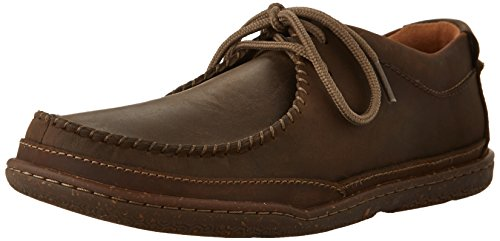 Clarks Trapell Pace In Pelle Marrone Scuro