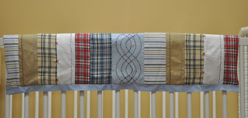 Plaids/Strps Boys Crib Rail Protector by Bacati