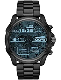 Men's 'Full Guard' Processor Stainless Steel Smart Watch, Color:Black (Model: DZT2007)