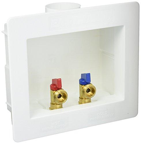 Eastman 60244 Dual-Drain Washing Machine Outlet Box, 1/2