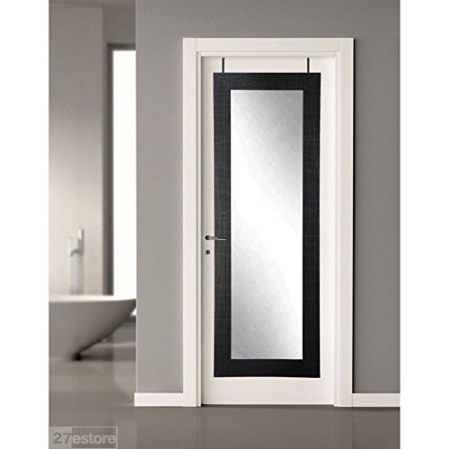BrandtWorks BM5THINH Over the Door Full Length Mirror, 21.5 x 71'', Scratch Black by BrandtWorks