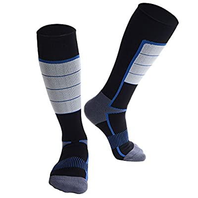 Compression Socks for Men & Women, Mid-Calf Stocking, High Elasticity and Durability, Suitable for Running, Training, Hiking, Exercise & Recovery, 1 Pair