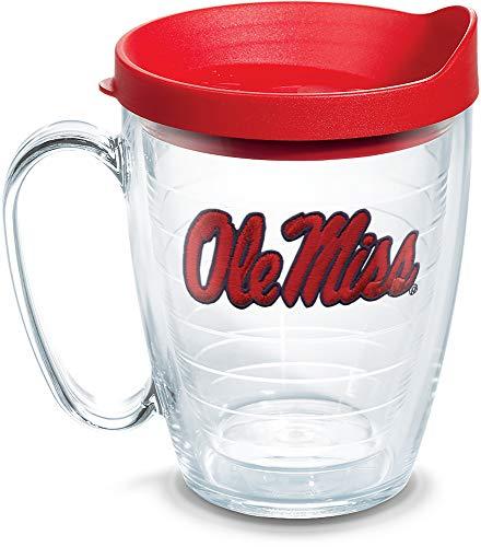 Tervis 1056781 Ole Miss Rebels Logo Tumbler with Emblem and Red Lid 16oz Mug, ()
