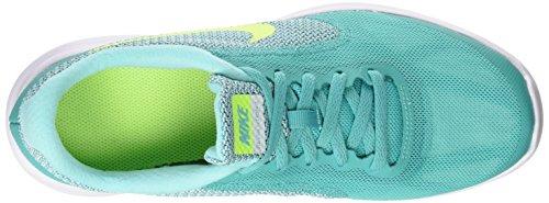 Nike Kids Revolution 3 (gs) Zapatillas Para Correr Clear Jade / Volt / Hyper Turquoise / White