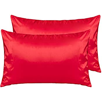 Amazon Com Ntbay Silky Satin Queen Pillowcases Set Of 2