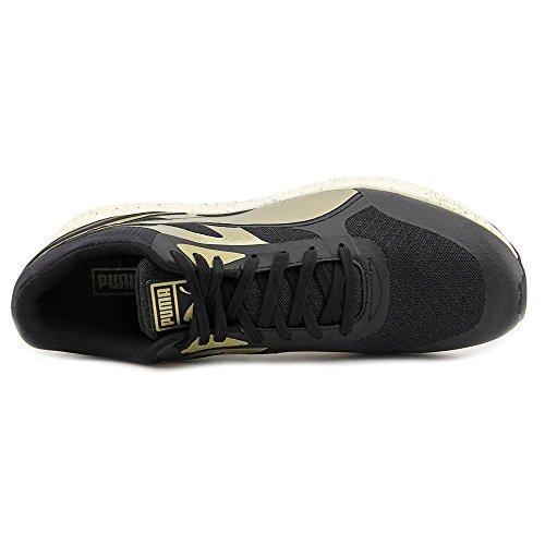 PUMA Mens 698 Ignite Metallic Ankle-High Fashion Sneaker Black/Metallic Gold/White tnotN