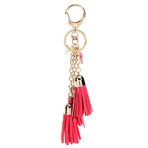 Hubry (TM)Tassel KeyC h a in Bag Handbag Key R i n g Car Key Pe nd an t 5