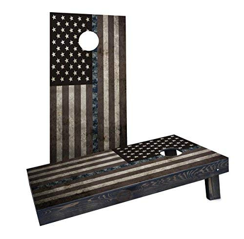 Custom Cornhole Boards CCB1221-2x4-C-RH American Thin NWU (Navy) Line Cornhole Boards [並行輸入品] B07HLHDKB5