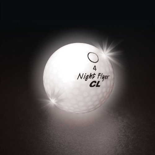 Night Flyer CL Constant On Lighted Golf Balls - 24 Balls - WHITE L.E.D's (Bulk Packed) by Night Flyer