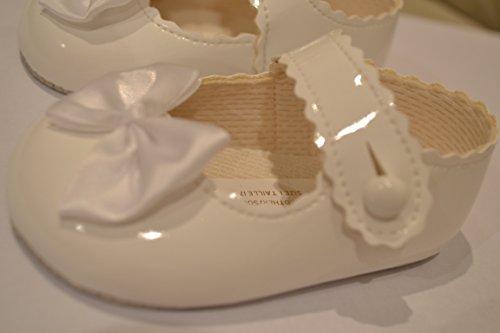 BayPods - Bebé niñas blanco Baypods zapatos de Bebé blancos, con un bowde -various tamaños blanco roto blanco Talla:3-6 monhts