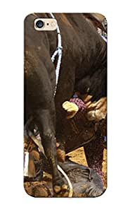 New Bull Riding Bullrider Rodeo Western Cowboy Extreme Cow (34) Tpu Case Cover, Anti-scratch Exultantor Phone Case For Iphone 6 Plus