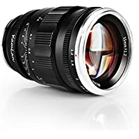 Kamlan 55mm F1.2 Large Aperture Manual Focus Prime Fixed Lens for SONY E-Mount Full-Frame/ APS-C Mirrorless Cameras, for Alpha a7, A5000, A5100, A6000, A6100, A6300 and NEX 3, 3N, 5, 5T, 5R, 6