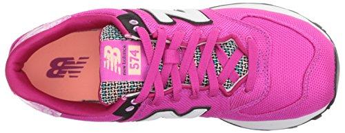 New Balance Wl574seb, Sneakers Basses Femme Fuxia/Bianco