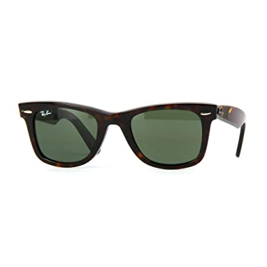 87cd52c42cb Amazon.com  Ray-Ban RB 2140 902 50mm Wayfarer Havana   Green Lens ...
