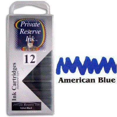 Private Reserve Refills American Blue 12-pack Fountain Pen Cartridge - PR-C25