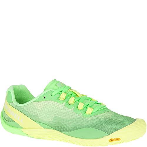 Lime Green Footwear - Merrell Women's Vapor Glove 4 Sneaker, Sunny Lime, 09.0 M US