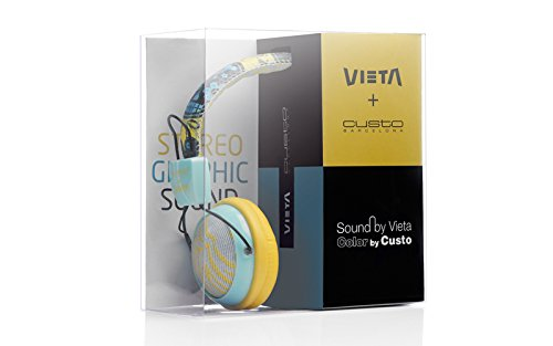 Vieta Custo - Auriculares de diadema cerrados, color amarillo: Amazon.es: Electrónica