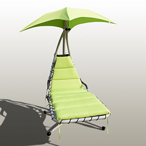 UHOM Hanging Chaise Hammock Lounger Chair Patio Canopy Ar...
