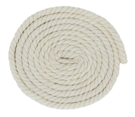 Saundra Peal 100% Twisted Cotton Rope 1/2'', 25 Feet,(1/2''x25'-Natural) by SaPeal