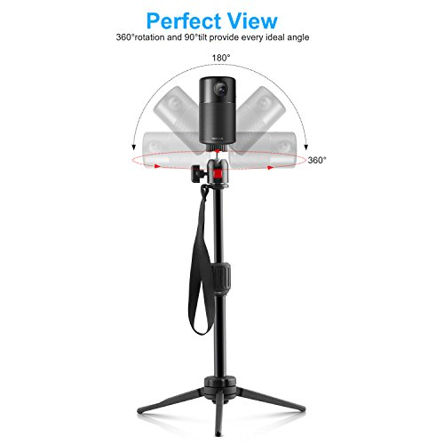 Nebula Capsule Adjustable Tripod Stand, Myriann Aluminum Alloy Portable Projector Stand for Pico Projector, Pocket Projector, and Mini Projector with Universal Mount and Swivel Ball Head by MYRIANN (Image #2)