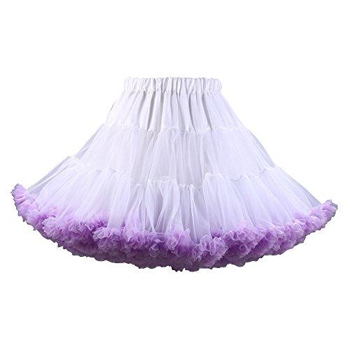 En De Femme Femmes Tulle Danse Ballet Ochenta Blanc Mini Mousseline Tutu Jupe Violet Soie dBreCxo