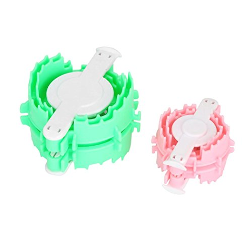 KESEE 2PCS Heart Shape Pompom Maker Fluff Ball Weaver Loom Craft 5cm 7cm