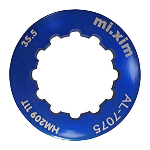 (Flywheel Lockring,hAohAnwuyg Bike Accessories,Mi.xim Aluminum Alloy MTB Bicycle Cassettes Flywheel Freewheel Lockring Cover - Blue)