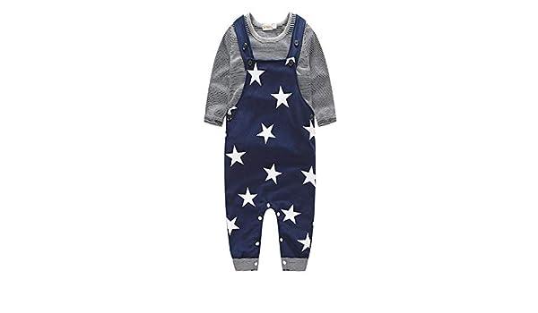 ❤️ Juego de Correas para bebés, Baby Boys Pants Sets Stripe T ...