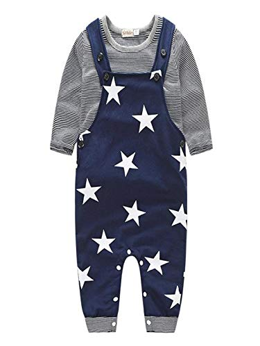❤ Juego de Correas para bebés, Baby Boys Pants Sets Stripe T-Shirt Top Bib Pantalones Overall Outfits Absolute: Amazon.es: Ropa y accesorios