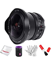 TTartisan 7.5mm F2.0 Fisheye Lens, with Creative Lens Cap and ND1000 Filter, Compatible with Sony E-Mount Cameras NEX-5N NEX-7 NEX-3N NEX-5T a6000 a3500 a5100 a6300 a6500