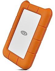 LaCie Rugged USB-C 2TB External Hard Drive Portable HDD – USB 3.0 compatible, Drop Shock Dust Rain Resistant, for Mac and PC Computer Desktop Workstation Laptop, 1 Month Adobe CC (STFR2000800), Orange