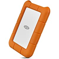 LaCie Rugged Secure USB-C 2TB All-Terrain Encrypted Portable Hard Drive STFR2000403