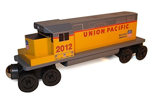 Whittle Shortline Railroad Union Pacific GP-38 Diesel Engine - Wooden Toy (Diesel Freight Set)