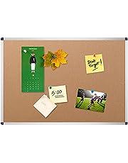 VIZ-PRO Cork Notice Board, 36 X 24 Inches, Silver Aluminium Frame