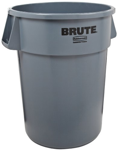 Rubbermaid Commercial Plastic 44-Gallon Brute Garbage Can, Legend