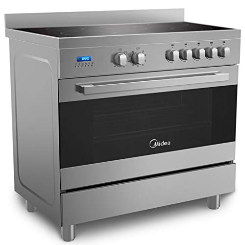 Midea 90 x 60 cm Ceramic Cooker with Schott Glass and Full Safety, Silver – VSVC96048, 1 Year Manufacturer Warranty