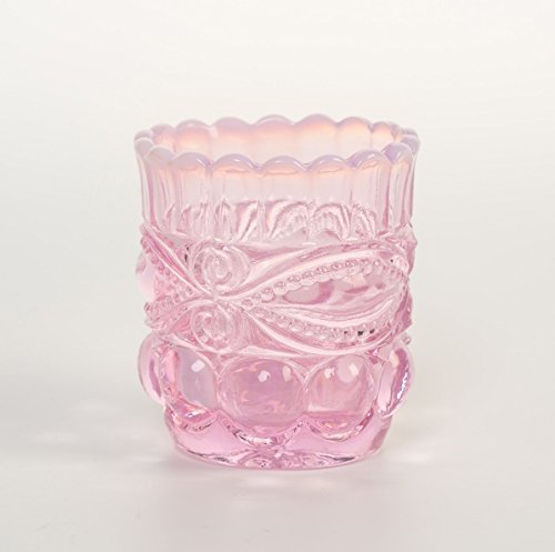 Toothpick Holder - Eyewinker - Mosser USA (Pink Opalescent) by Rosso Glass (Image #1)